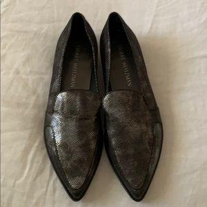 Stuart Weizmann metallic loafers